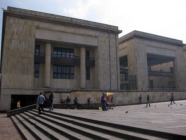 First day in Bogota - my day of arrival.  Plaza Simon Bolivar - Palacio de Justicia