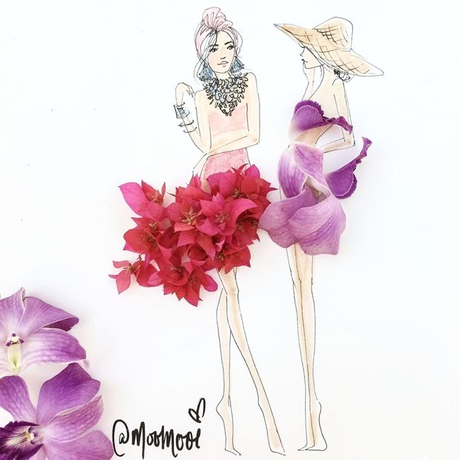 Çizimlerinde Sebzeleri ve Çiçekleri Kullanan Modacıdan 20 Olağanüstü İllüstrasyon Sanatlı Bi Blog 16