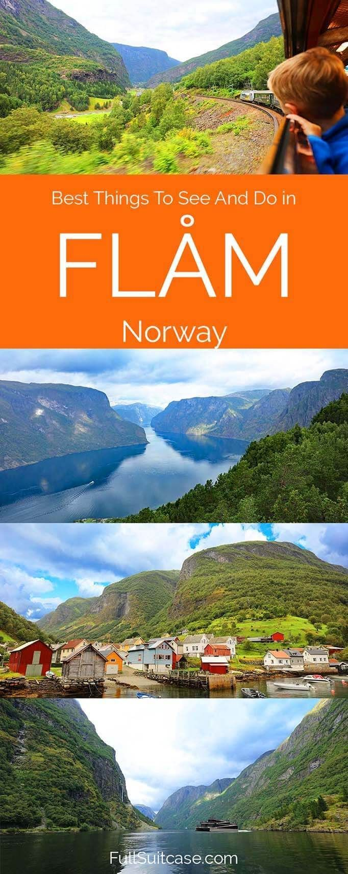 Best things to see and do in Flam Norway, includes suggested one day itinerary. #Flam #Norway