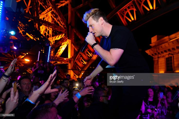 Singer Nick Carter of the Backstreet Boys speaks during the after party of the debut of the group's residency 'Larger Than Life' at the Chateau Nightclub & Rooftop at the Paris Las Vegas on March 2, 2017 in Las Vegas, Nevada.