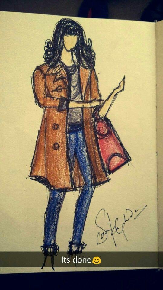 Random casual wear sketch
