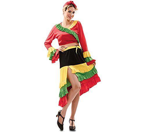 Disfraz de Rumbera Roja para mujer -- Disfraz de Rumbera 7e364a4d0df