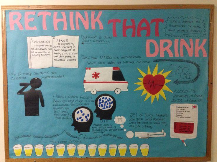Alcohol awareness board! #RA #Bulletinboard