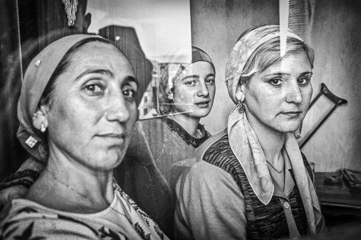 "Refugees from Chechnya. Tbilisi. 2005. From the book ""Woman With a Monkey—Caucasus in Short Notes and Photographs."" © Justyna Mielnikiewicz"