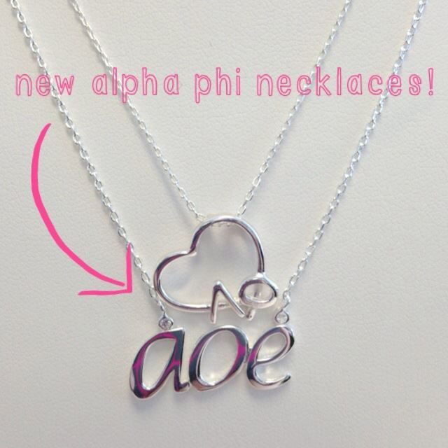 Alpha Phi Necklaces in! #delicate #simple #feminine #alphaphi #aoe #sistersforever #alphaphisisters #alphaphilove #sorority #greeklife #sororitysisters #gogreek #rushweek #aoelove
