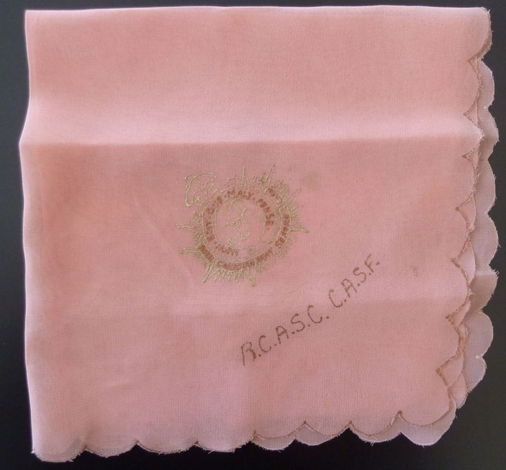 Royal Canadian Army Service Corp Military Crest Handkerchief RCASC CASF WW2