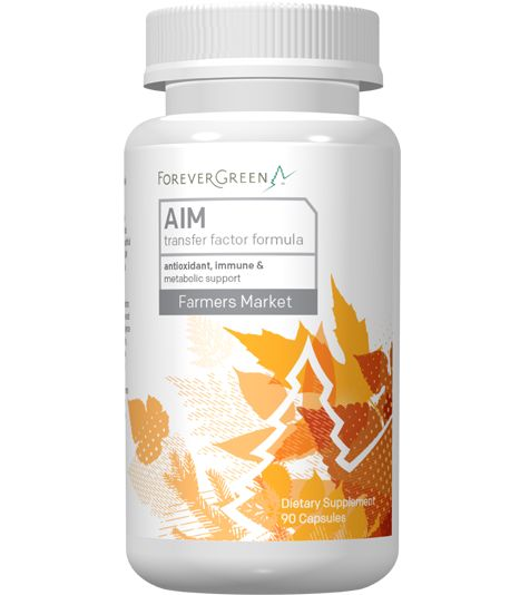 AIM Transfer Factor is an advanced formula that supplies your body's cells with the critical nutrients it needs to maintain its healthy, youthful state. Specially designed by a biochemist, AIM offers a high antioxidant (vitamin C) value and supports healthy immune and metabolic systems.