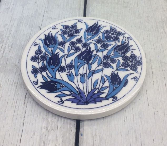 IZNIK CERAMIC COASTER, 0035