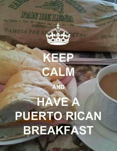 Love me some Puerto Rican breakfast