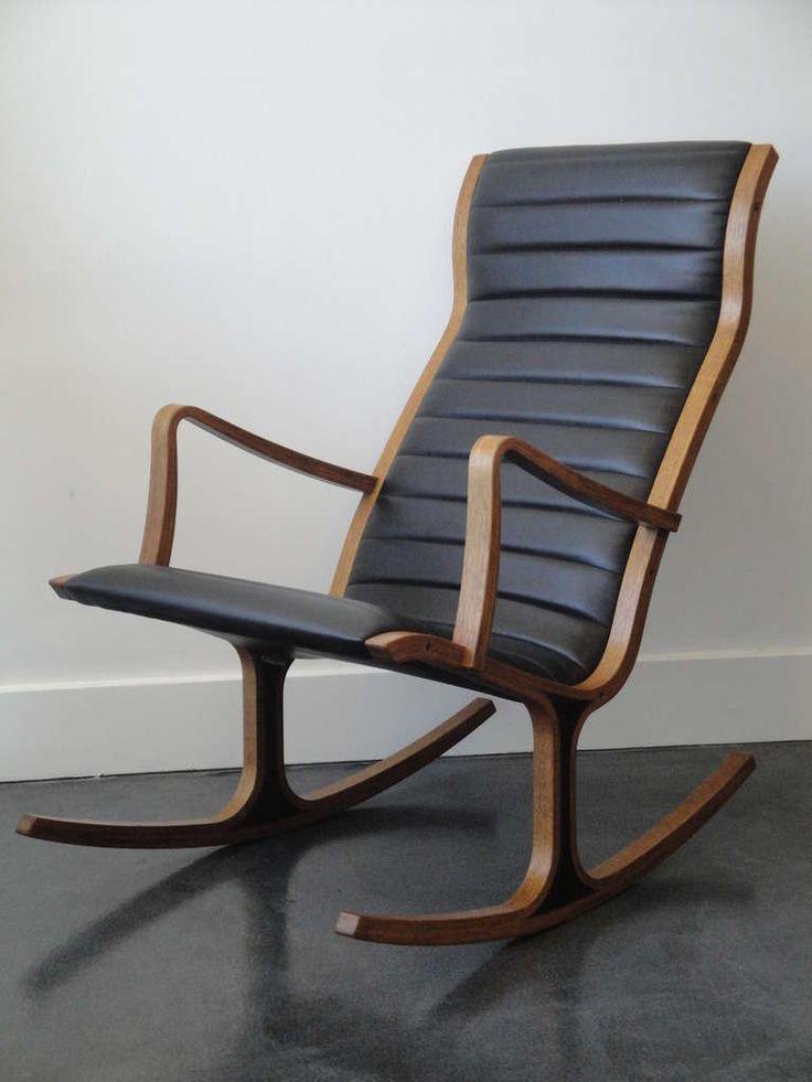 heron rocking chair by mitsumasa sugasawa for tendo mokko japan herons rocking chairs and chairs. Black Bedroom Furniture Sets. Home Design Ideas