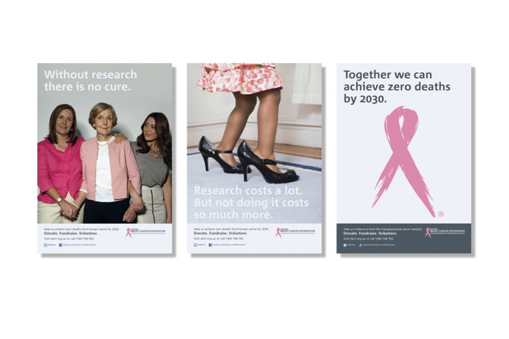 National Breast Cancer Foundation Australia: Marketing communications; poster design, corporate newsletter design, graphic design | We Create Brands