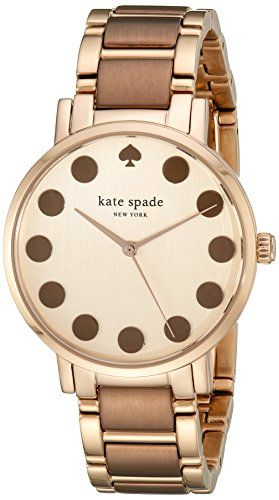 kate spade new york Womens 1YRU0739 Gramercy Dot Rose GoldTone Watch ** Click image for more details.