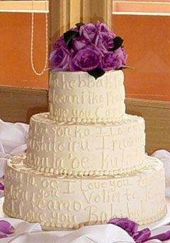 wedding cakes, with words