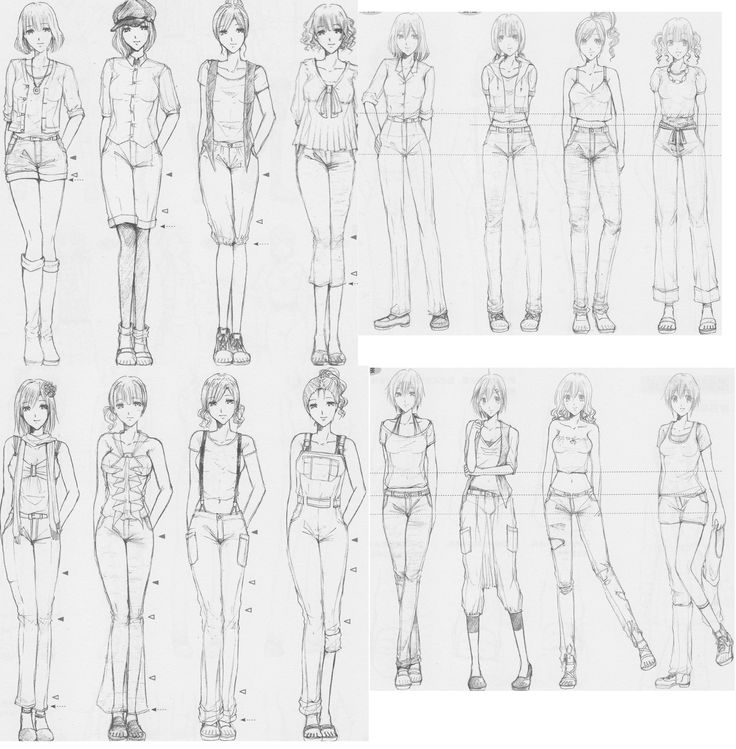 how to draw folds in clothing anime