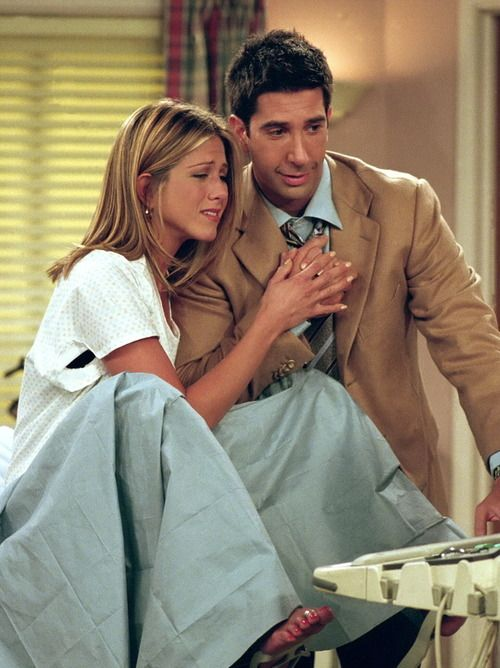 Awwww look how happy ross and Rachel are to a baby daughter together season 8