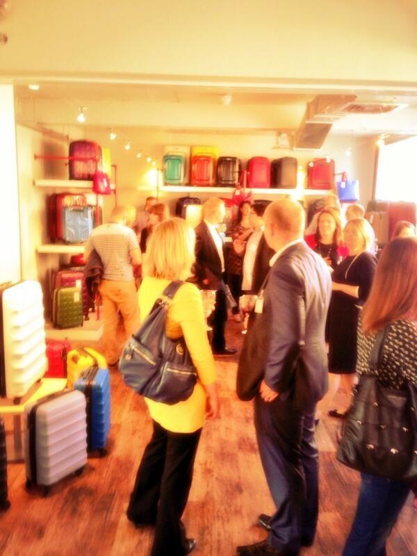 The scene at today's #antlerrelaunch a landmark occasion @Antler Luggage   #luxury #luggage #britishdesign
