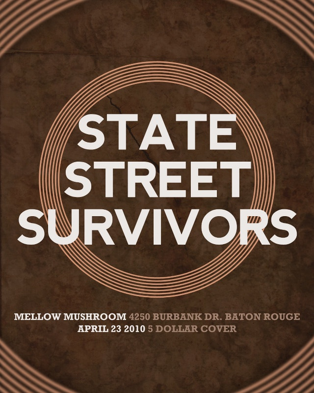 State Street Survivors Band Poster
