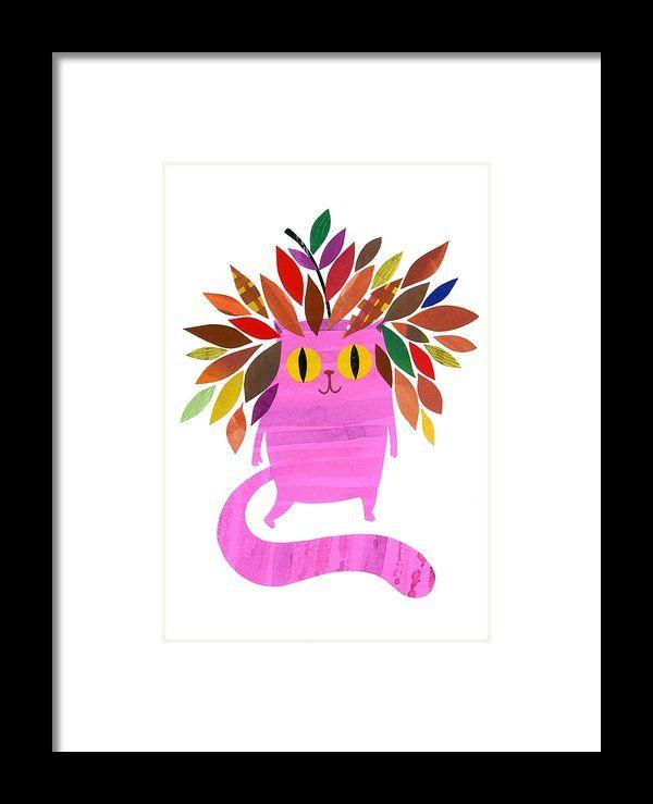 Forest Cat Framed Print By Anne Vasko