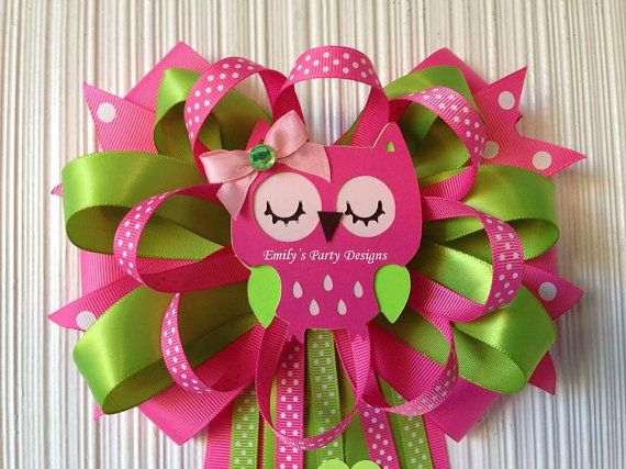 Owl Mommy-To-Be Baby Shower Corsage by designsbyemilys on Etsy
