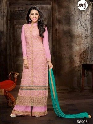 Faux Georgette Suit with full Embroidery @ 1199 only.