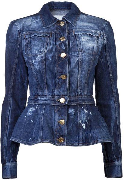 PIERRE BALMAIN Blue Peplum Jacket