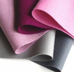 100  Wool Felt Fabric Sheets   Ashes of Roses  by FeltOnTheFly, $15.00
