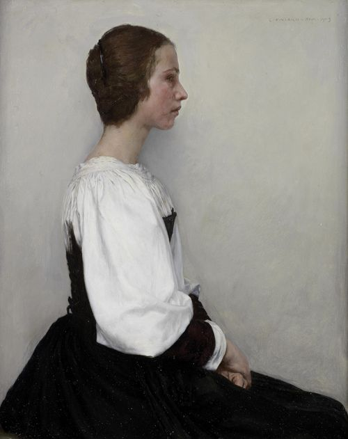 Charles Frederic Ulrich: Portrait of a Young Lady, 1903 So austere.....