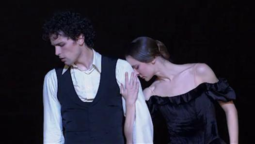 Agnès Letestu and Stéphane Bullion in La Dame aux camélias. Opéra de Paris