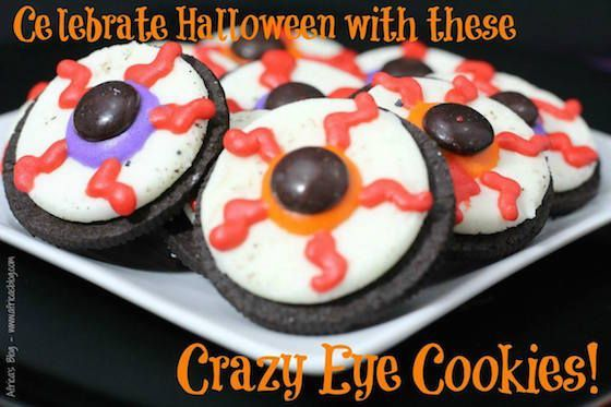 Crazy Eye Cookies - Halloween party food #12daysof