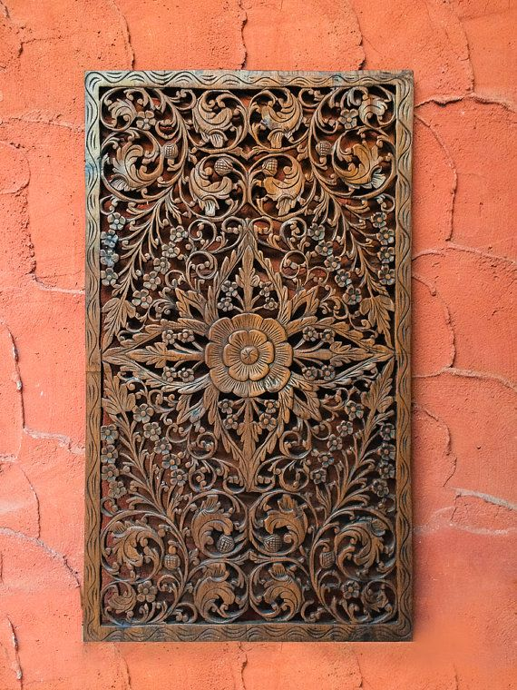 Decorative Carved Wood Wall Panels Bring A Sense Of