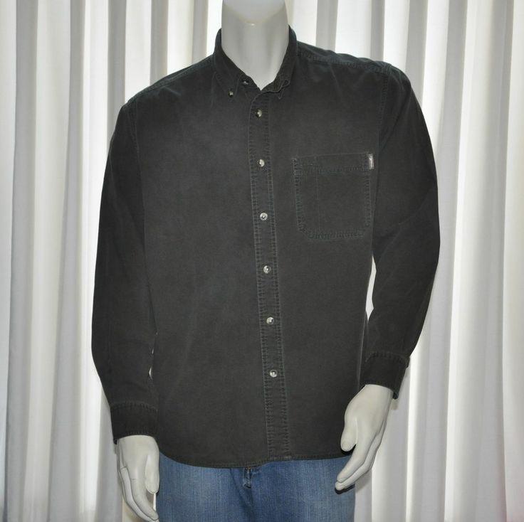 Eddie bauer casual shirt mens medium m green button front
