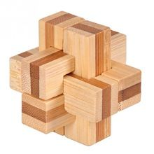 3D Wooden Puzzle IQ Brain Teaser Interlocking Burr Puzzles Game Toy For Adults Children Kids 7