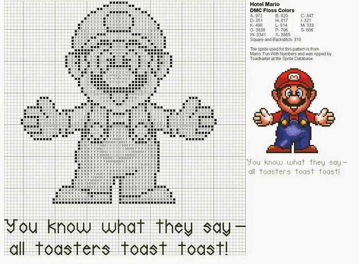 Mejores 30 imágenes de Super Mario Bros en Pinterest   Punto de cruz ...