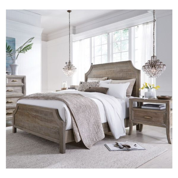 amelie solid wood california king bed frame liked on polyvore featuring home
