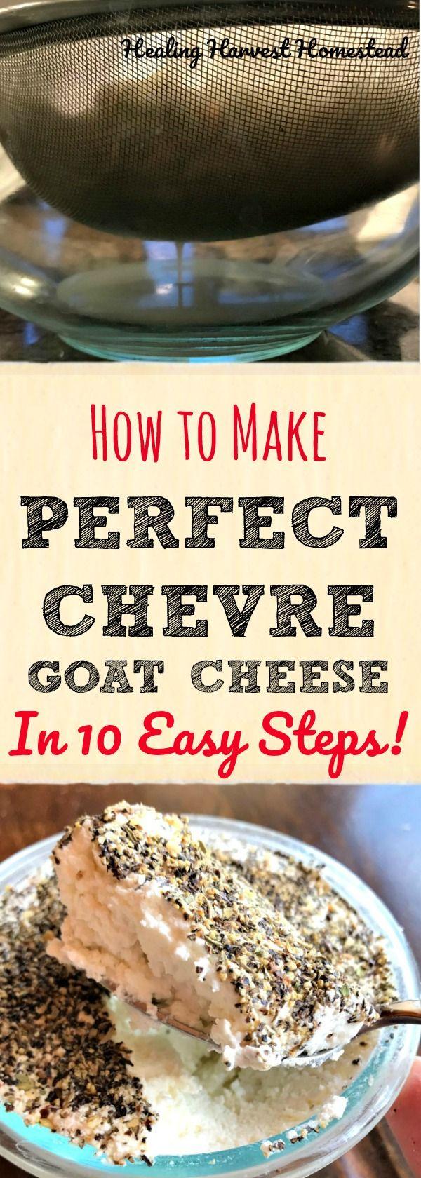 This is seriously one of the best things I've ever done for myself: I learned how to make chèvre (goat) cheese! Yep! I took Corina Sahlin's Online Cheesemaking Course, and I've learned how to make this cheese, plus Gouda Cheese, Vino al Cabra, and two kinds of yogurt with her easy methods and cheese recipes. Find out how to make Chèvre cheese in just 10 steps!
