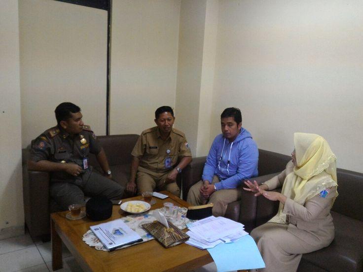 koordinasi tentang reklame dengan kecamatan dan kasatpol pp kecamatan tambora