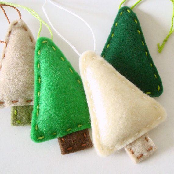 Primitive Christmas Decorations Felt Ornament by AmeliaAndBrother, $4.00