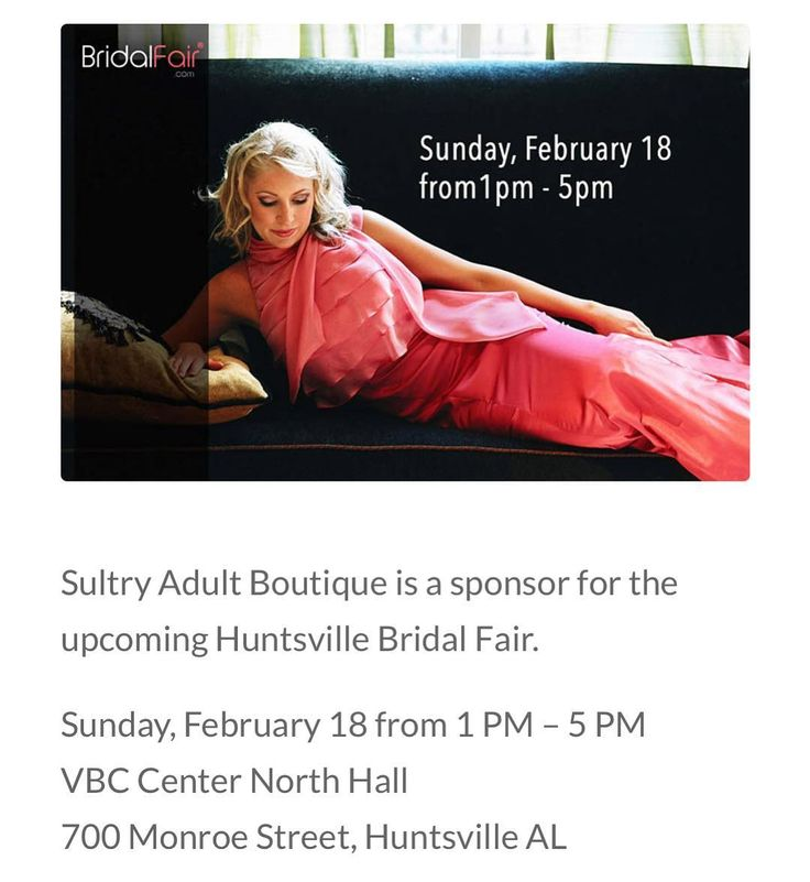 Visit Sultrys at the 2018 Bridal Fair on February 18th.  Featuring new 2018 lingerie and more. #bridalfair #lingerie #huntsvillebrides #huntsville #plussize #honeymoon #classy #sultry #sultrynights #keepupwithsultry #sultryadultboutique #boutique #bridesmaids #bridesmaidgift #bridesnightout #bacheloretteparty
