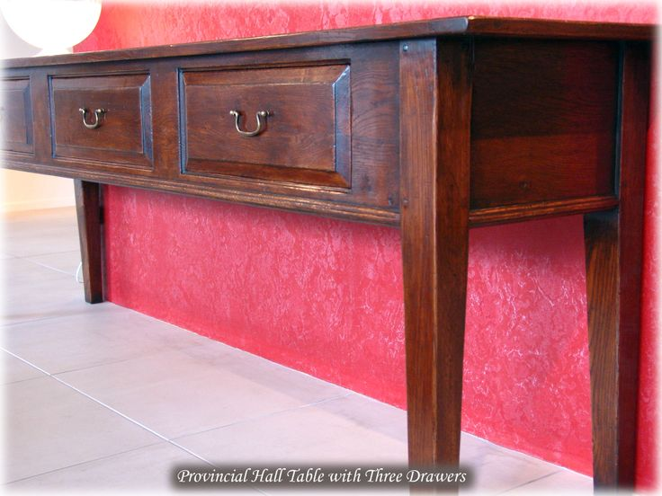 Provincial Panel Front Hall Table - French oak