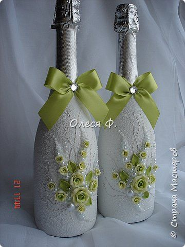 Декор предметов Свадьба Лепка Шитьё Зелень прошедшего лета  Бисер Пластика Ткань фото 14