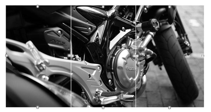 OBRAZ Tryptyk 30x70cm motocykl w antyramie (5292922172) - Allegro.pl - Więcej niż aukcje.