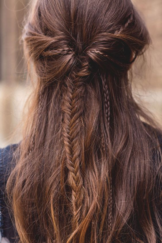 70+ Fishtail Hairstyles Half Up Ideas 5