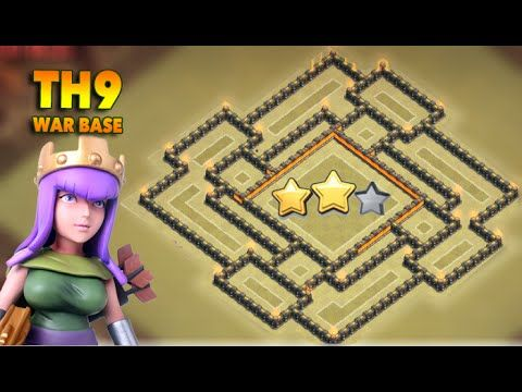 Clash Of Clans   New Town hall 9 Th9 War Base March 2016 Update!
