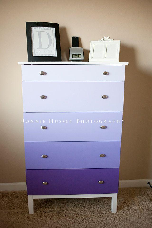 Purple Ombre Dresser Home Pinterest Ikea Dresser