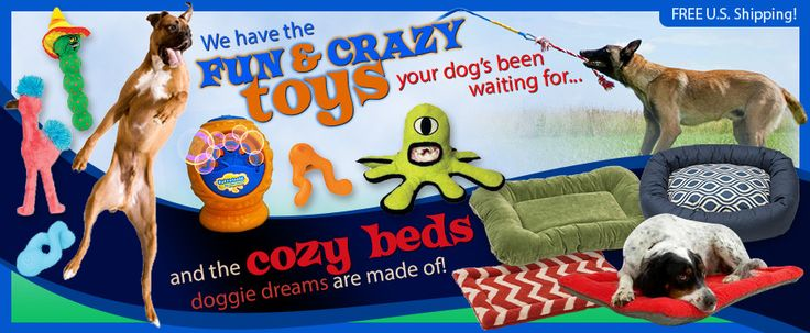 The coolest dog toys ever! We have the toughest chew toys ever made, the best interactive dog toys, dog puzzles &  treat toys.
