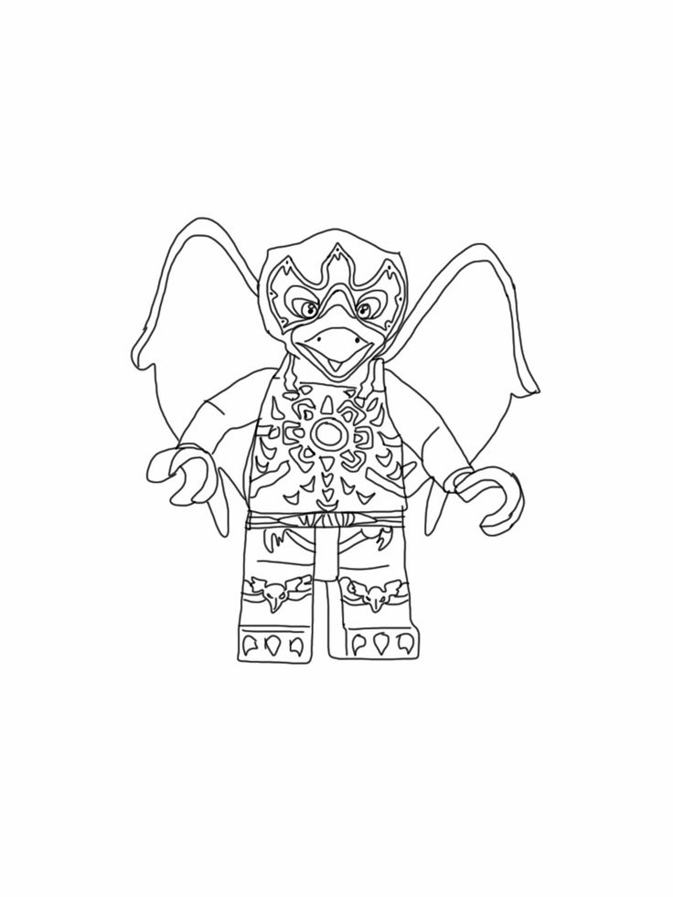 Lego Chima Coloring Page Razar Raven