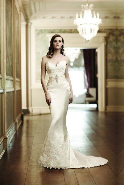 Simone Carvalli 7109 Sweetheart Mermaid Wedding Dresseslace