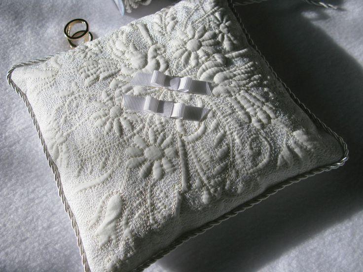 Cotton art: Свадебная подушка для колец