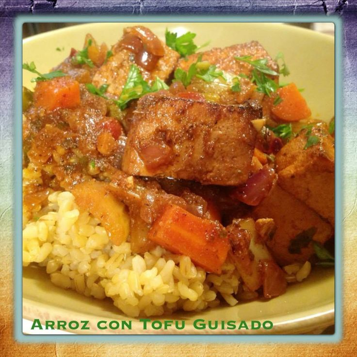 VeganMoFo Day #8: Arroz con Tofu Guisado (Rice with Stewed Tofu)