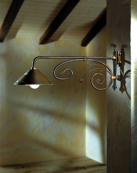 Italian Wall Sconce, Wall Sconce, Hand Forged Wall Sconce, Rustic Lighting, Cabin Lighting, Transitional Lighting, Ranch Lighting